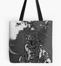 Swinging Bridge at Hickory Creek Tote Bag