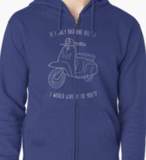 Downtown on a Moped Zipped Hoodie