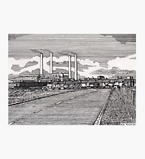 201 - BLYTH POWER STATION - DAVE EDWARDS - INK - 1995 Photographic Print