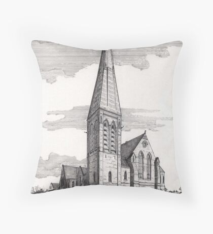 194 - UNITED REFORMED CHURCH, BLYTH - DAVE EDWARDS - INK - 1992 Throw Pillow