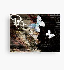 Metamorphose (Urban butterfly art) Canvas Print