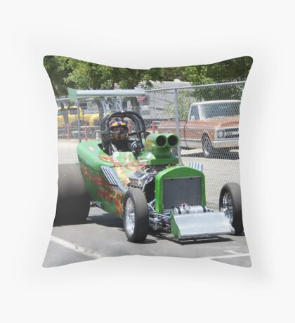 Summit Series Green; Fomoso Raceway USA Throw Pillow