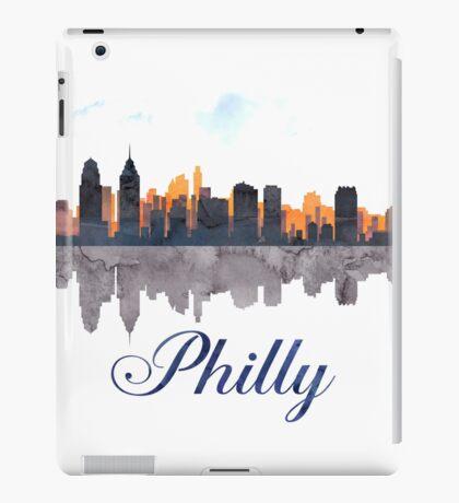 Philadelphia Skyline, Pennsylvania, Watercolor iPad Case/Skin