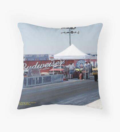 Yellow! Summit Series Racing; Fomoso Raceway, McFarland, CA USA Throw Pillow