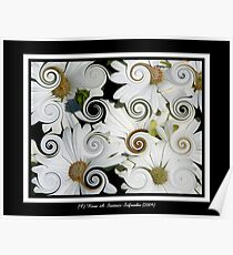 Daisies (Curlicue Special Effect) Poster