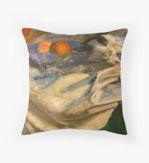Still Life - White Drapery Throw Pillow