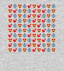Love Greek Emoji JoyPixels Travel to Greece Kids Pullover Hoodie