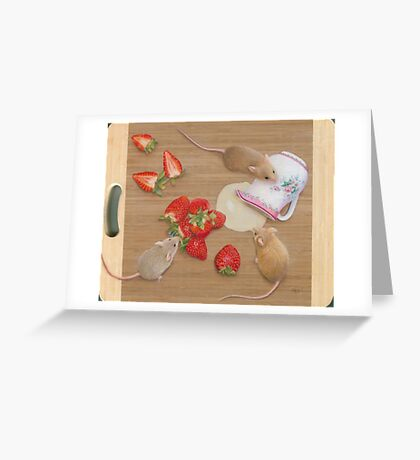 Strawberries and Cream Delight Greeting Card