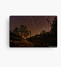 Star Trails in Ceceles Canvas Print