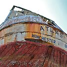Rusting Old Ship Stern by Escott O. Norton