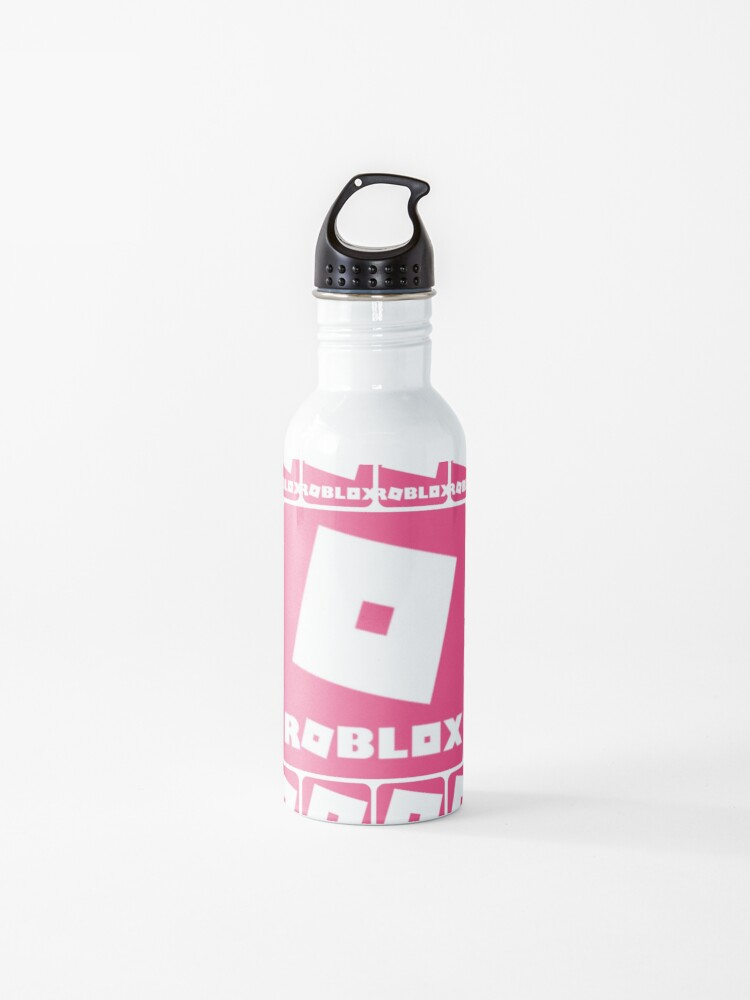 Roblox Pink Game Collage Water Bottle By Best5trading Redbubble