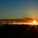 hazey sunset by phillip wise