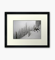 Grouse Mountain Snowshoeing  Framed Print