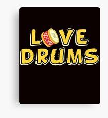 savvy Turtle Love Drums Canvas Print