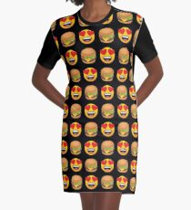 Love Hamburger Emoji JoyPixels Funny Burger Lover Graphic T-Shirt Dress