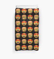 Love Hamburger Emoji JoyPixels Funny Burger Lover Duvet Cover