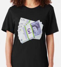 British Pounds Emoji JoyPixels Cash Money Slim Fit T-Shirt