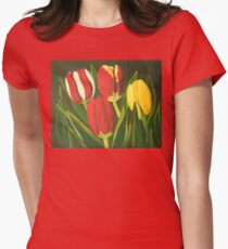 Tulip Time Women's Fitted T-Shirt