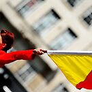 Semaphore Flag Girl  by MWhitham