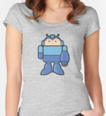 MEGADROID Women's Fitted Scoop T-Shirt