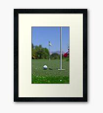 Golf ball on Green Framed Print