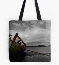 Stranded boat, Dungloe, Donegal Tote Bag