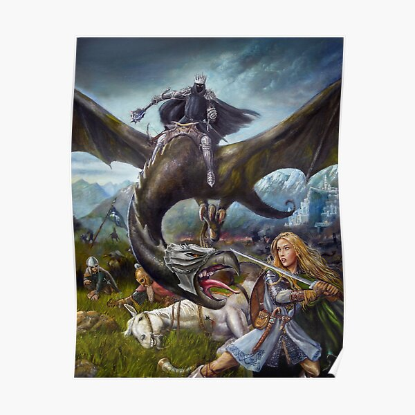 Eowyn and the Nazgul Poster