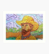 338 - BRICK VAN GOGH - DAVE EDWARDS - COLOURED PENCILS - 2011 Art Print