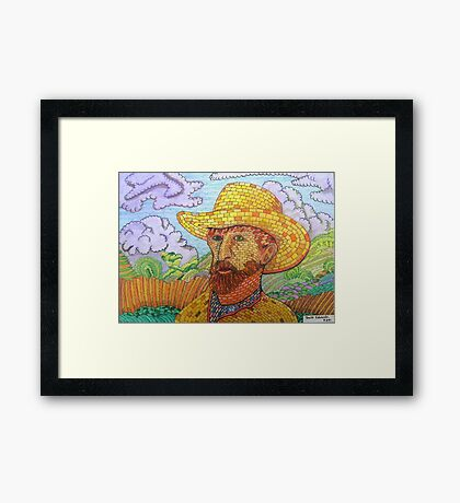 338 - BRICK VAN GOGH - DAVE EDWARDS - COLOURED PENCILS - 2011 Framed Print