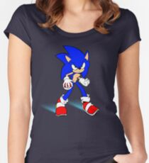 Sonic : Super Fast Pokemon Trainer Women's Fitted Scoop T-Shirt