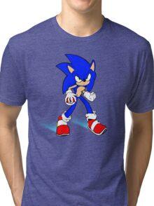 Sonic : Super Fast Pokemon Trainer Tri-blend T-Shirt