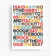 Rapper's Delight - Sugarhill Gang Canvas Print