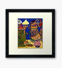'Impossible Tea Party' - a painting that found me at 2am! Framed Print