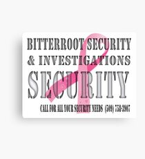 Security - Breast Cancer awareness Canvas Print