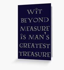 Wit Beyond Measure Greeting Card