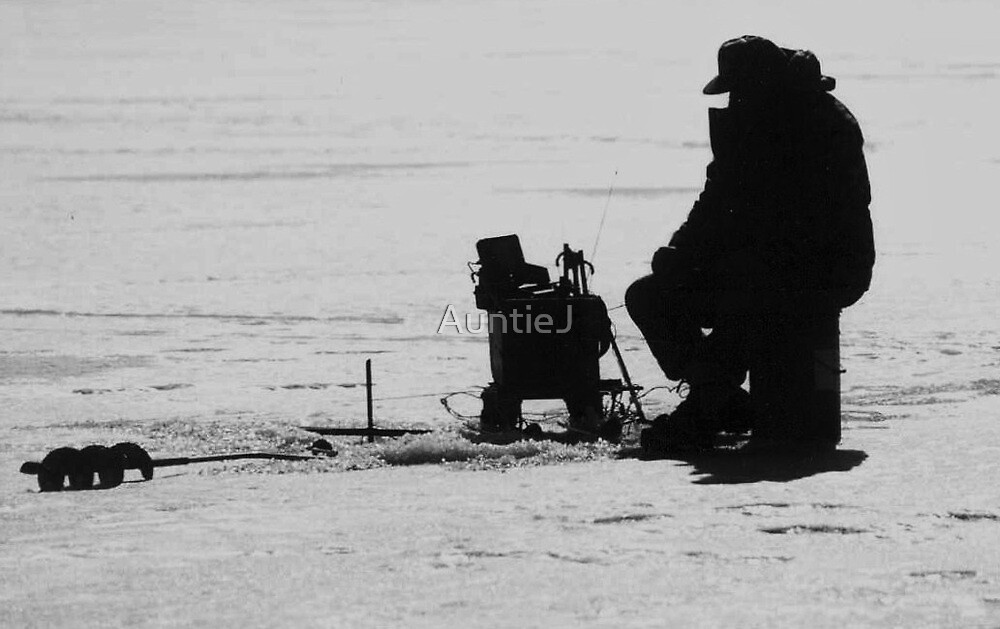 Winter Fishing by AuntieJ