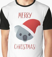 Merry Christmas Koala Emoji Graphic T-Shirt