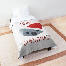 Merry Christmas Koala Emoji Comforter
