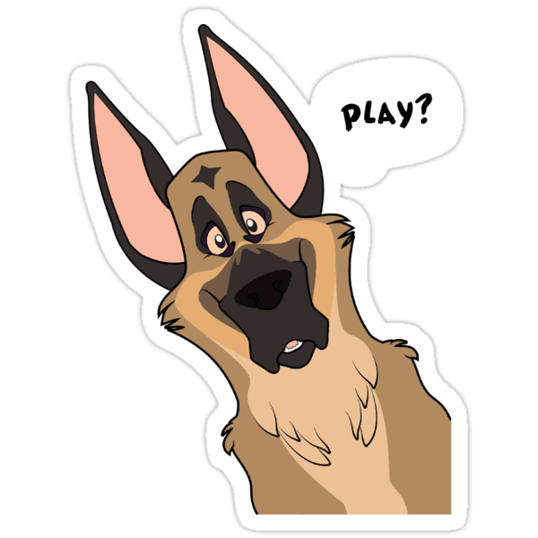 Quot Grinning German Shepherd Dog Quot Stickers By Kobi Lacroix