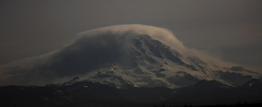 Rainier at night by James Duffin