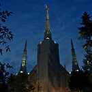 Portland Oregon LDS Temple 2 by Nick Boren