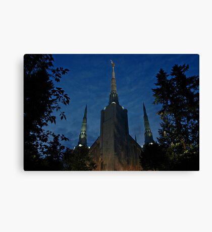 Portland Oregon LDS Temple 2 Canvas Print