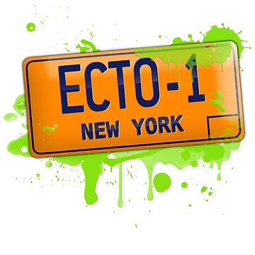 Ghostbusters ecto-1 license plate by VisualAffection