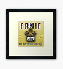 Ernie and the Premium Bonds Framed Print