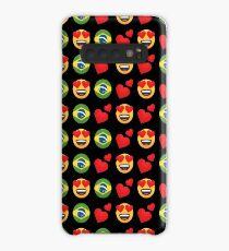 Liebe brasilianische Emoji JoyPixels Reisen Sie nach Brasilien Hülle & Klebefolie für Samsung Galaxy