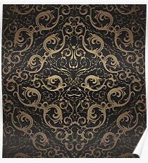 Floral seamless ornament Poster