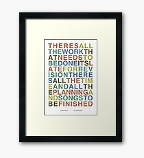 Someone Great - LCD Soundsystem Framed Print