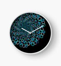 Circle Mandala (Black Background) Clock