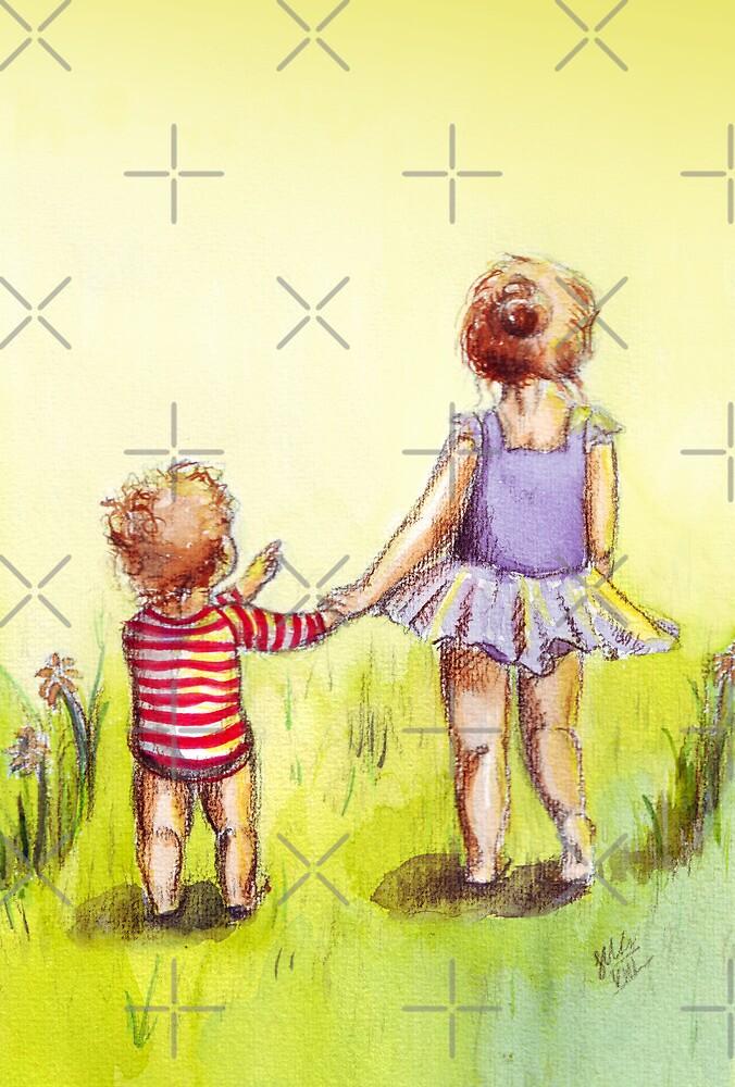 «Una caminata en el sol» de Sarah  Mac Illustration