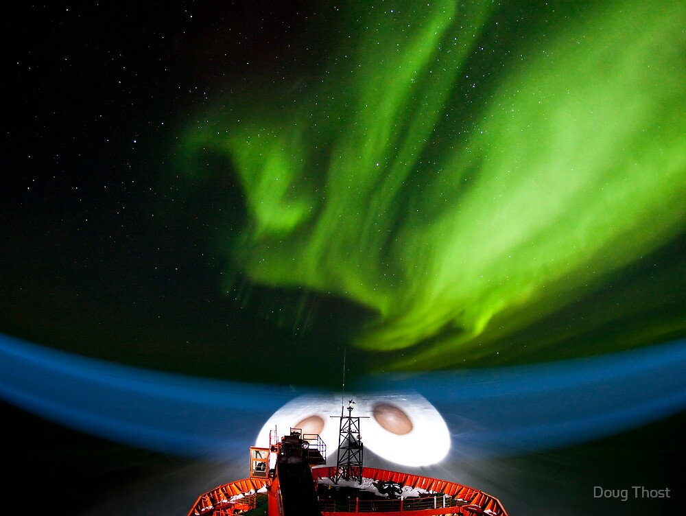 Aurora Australis over the RSV Aurora Australis by Doug Thost